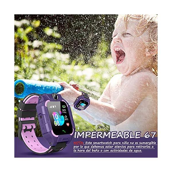 BANLVS Smartwatch Niños, 2019 Nuevo Reloj Inteligente Niños con Flashlight, IP67 LBS SOS, Cámara, Smartwatch con Ranura… 7