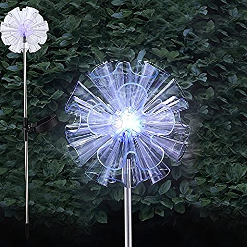 Mia Light flor solar Estaca lámpara & # x21a5; 700mm/LED/transparente/transparente/plástico/exterior lámpara