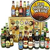 Zur Jugendweihe | Bieradventskalender mit Bieren aus aller Welt | Geschenk zur Jugendweihe für Mädchen | INKL gratis Bierbuch