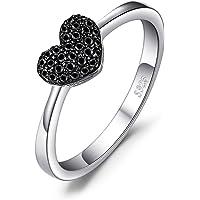 JewelryPalace Anelli Donna Argento 925, Naturale Spinello Amore Cuore Anello, Anniversario Promessa Fidanzamento Anello…