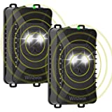 Winzwon Répulsif à Ultrasons pour Parasites, Rejet des Souris et des Rongeurs avec Lampes Stroboscopiques à LED, pour Anti Ma