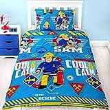 HiT Feuerwehrmann Sam Kinder Bettwäsche Mikrofaser 2-TLG. Garnitur für Kinderbett Bettbezug und Kissenbezug