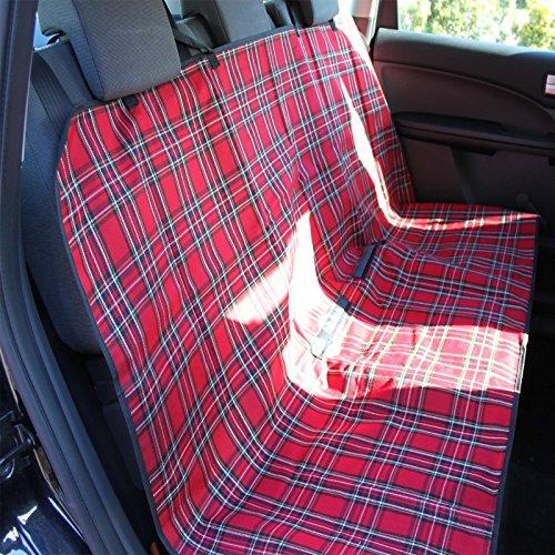 Auto-Rücksitz/-Kofferraum-Schutzdecke, kariert, wasserabweisende Rückseite