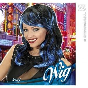widmann-wdm5943l disfraz Adulto para mujer, Color Negro y Azul, wdm5943l