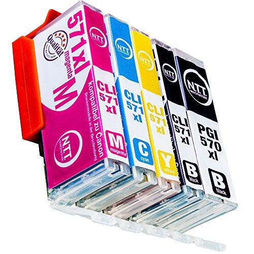 NTT 5 XXL kompatible Druckerpatronen als Ersatz für Canon PGI570 XL PGI-570 PGI 570 CLI-571 XL CLI 571(2x Schwarz, 1x Cyan, 1x Magenta, 1x Yellow)