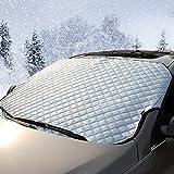 Scheibenabdeckung Auto Winter– IntiPal Frostschutz Frontscheibe Heckscheibe Frostabdeckung Winterabdeckung Eisschutzfolie