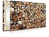 XXL-Tapeten Leinwandbild Firewood - Fertig Aufgespannt - Gemälde, Kunstdruck, Wandbild, Keilrahmen, Bild auf Leinwand von Trendwände - Format: 90x60cm, Standard: Polyester-Leinwand 2cm Rahmen