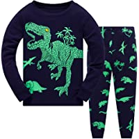 Boys Pyjamas Set Dinosaur Print Kids Pjs Pajama Long Sleeve Cotton Sleepewar Tops Shirts & Pants Nightwear Children Outfit