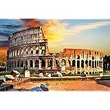 Colosseo FOTOMURALE - anfiteatro Colosseo quadro da parete - XXL poster Colosseo tramonto del sole decorazione da parete Roma 210 cm x 140 cm
