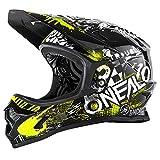 O'Neal Backflip RL2 Helm Attack Mountain Bike DH FR MTB BMX Downhill Fahrrad Magnetverschluss, 0500-0, Farbe Schwarz Gelb, Größe L
