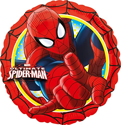 Folienballon * SPIDER-MAN * für Kindergeburtstag oder Motto-Party // Folien Ballon Party Helium Deko Ballongas Motto Ultimate Spiderman