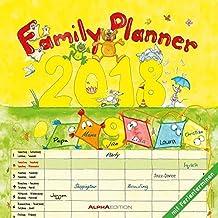 Familienplaner 2018 - Broschürenkalender (30 x 60 geöffnet) - mit 6 Spalten - mit Ferienterminen - Familientermine - Wandplaner: by Silke Leskin