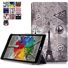 Carcasa LG GPad X 8.0 Piel,Ultra Delgado Ligero PU Cuero Funda de Piel para Tablet Tablet LG G Pad 3 8.0 V525/LG GPad X 8.0 V521WG Smart Cover con Stand Función