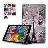 Carcasa LG GPad X 8.0 Piel,Ultra Delgado Ligero PU Cuero Funda de Piel para Tablet Tablet LG G Pad 3...