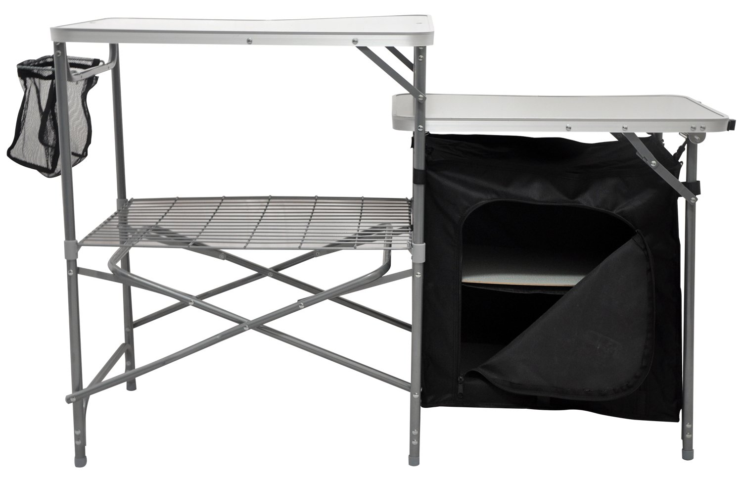 Andes Camping Field Kitchen Worktop Table Stand With Cupboard 1
