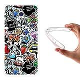 WoowCase ZTE Blade V7 Hülle, Handyhülle Silikon für [ ZTE Blade V7 ] Coloriertes Graffiti Handytasche Handy Cover Case Schutzhülle Flexible TPU - Transparent