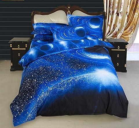 3 tlg. Stillshine 3D Mysteriös Universum Galaxis Bettwäsche Set Bettbezug Bettdecke hülle Bezug Kissen Farbe Wählbar , (200 cm x 230 cm, Universum 04)