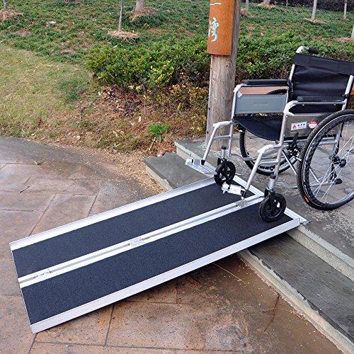 61OyCGYiHlL - Rampa sillas Ruedas 2X 213cm 270kg Plegable Aluminio móvil Coche vehículo Superficie Antideslizante