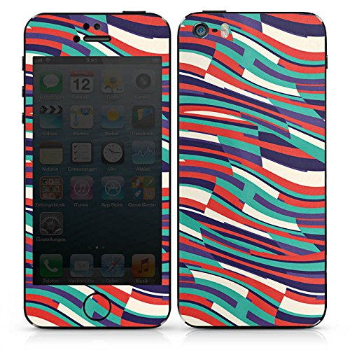 Apple iPhone SE Case Skin Sticker aus Vinyl-Folie Aufkleber Streifen Bunt Lines DesignSkins® glänzend