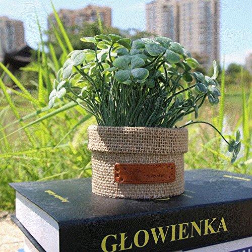 CLG-FLY Kreative floral Wäschepaket Lam Simulation von Topfblumen Chrysantheme Bonsai Pflanzen Wohnzimmer Dekoration,120C grün