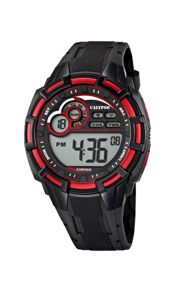 Calypso watches K5625 – Reloj de Cuarzo para Hombre, Correa de plástico Color Negro