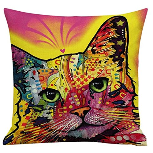 OverDose Home Decoration Cat Dyeing Pillow Case Cushion for sale  Delivered anywhere in UK