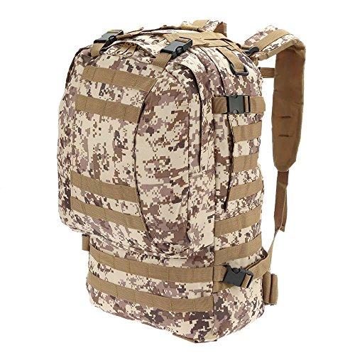 Lixada Multifunktions Militärischen taktischer Rucksack mit MOLLE Gurte Rucksack Sport Camping Reisen Wandern Tasche (Schwarz) Tarnfarbe 4