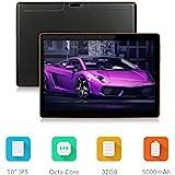 "Android-Tablet mit SIM-Kartensteckplatz entriegelt 10 Zoll - Dieniu 10,1 ""IPS-Bildschirm Octa Core 2 GB RAM 32 GB ROM 3G Phablet mit WLAN-GPS-Bluetooth-Tablets (Black)"