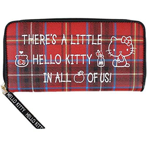 hello-kitty-runden-verschluss-lange-geldborse-fliesen-muster-scottish-rot-tartan-serie