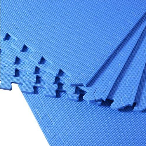 Stylehome® Fitness Sport Schutzmatte Puzzlematte Bodenschutz-matte Turnmatte 60x60x1.2cm(8 tlg.blau)