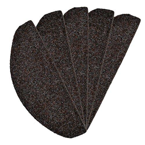 Stufenmatte Rasenteppich Braun 24 cm x 65 cm / 15 Stück - versandkostenfrei schadstoffgeprüft pflegeleicht antistatisch schmutzabweisend strapazierfähig Balkon Terrasse Garten Camping Freizeit (Ovale Wolle Indoor-teppiche)