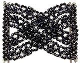 Mytoptrendz Damen Silber Ton dehnbar Perlen Double Side Zähne Haar Kamm Clips Magic Hair Zubehör in verschiedenen Farbe