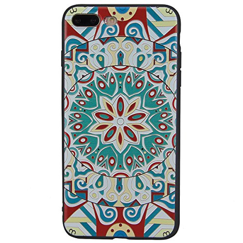 Yokata iPhone 7 Hülle Weich Silikon TPU Soft Case Handyhülle Schutzhülle Clear Backcover mit Sonnenblume Mode Muster Protective Cover + 1 x Kapazitive Feder Totem