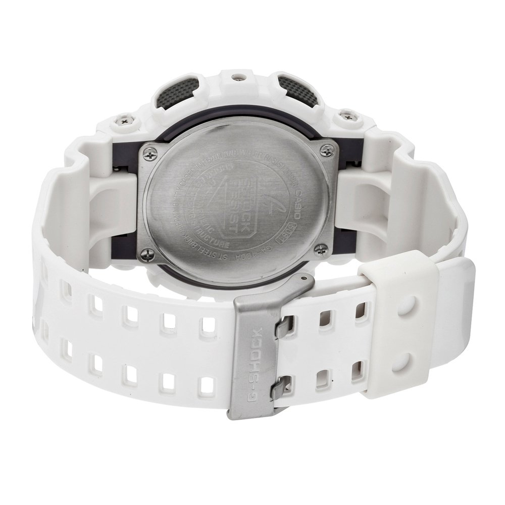 00f6f895de59e Casio Men s GA100A-7 G-Shock X-Large Analog-Digital White and Blue Sports  Watch