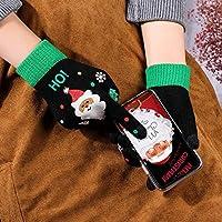 WCDF gloves Christmas Gloves Mittens Warm Female Gloves gloves ( Color : 2 , Gloves Size : One Size )