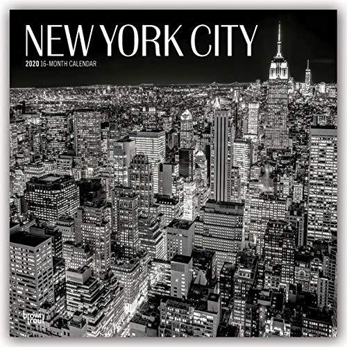Calendario Premier League 2020 16.New York City Schwarz Weiss 2020 18 Monatskalender Mit Freier Traveldays App Original Browntrout Kalender