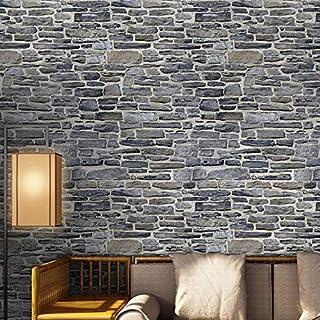 HUHU833 100*30cm Self-adhesive Wall Sticker Simulation Brick Stone Rustic Effect Home Decor (D)