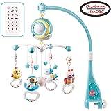 Mobile pour lit de bébé musical avec lumières et musique, support, lit de bébé musical rotatif avec projecteur, hochets suspe
