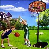 Generic YCUK150730-117<1&4137*1> RD GAMEABLE soportes de tamaño grande con función de atril de pelota de baloncesto de punta de bola ajustable de red canasta de tamaño grande BASE de aro tamaño