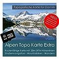 Alpen Garmin Karte TOPO EXTRA - 8 GB microSD. (Deutschland Schweiz Italien Österreich Frankreich Slowenien) Topografische GPS Freizeitkarte für Fahrrad Wandern Touren Trekking Geocaching und Outdoor. Garmin Camper Colorado dezl Cam Edge Dakota eTrex GPSMa