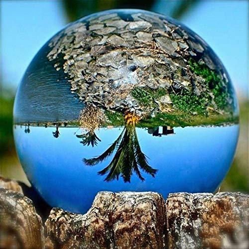 Aotoba Kristallkugel-Kugel-runde globale Vergrößerungsglas-Minikristallkugel für Tabellen-Schauplatz-Dekorationen, Foto-Stützen und Geschenke 60mm (60 Dekorationen Tabelle)