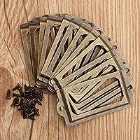 Chenxi tienda 12pcs etiqueta de metal latón envejecido tirador de marco nombre de archivo titular de la tarjeta para muebles armario cajón caso