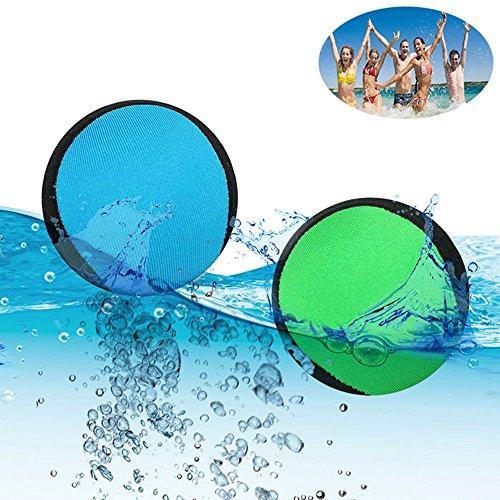 Vinmax Wasser Bouncing Ball Spielzeug, Schneekugeln Surf Runner Springseil Bälle Hand Therapie Stress Ball, Wassersport für extreme Schwimmbad Meer, Best Spiel für Familie Kinder (Fisch-brunnen Blaue)