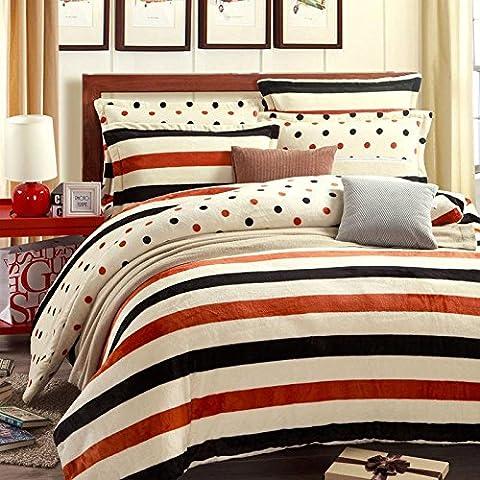 Impresión de una familia de cuatro camas Paul invierno cálido nuevo anime de franela lecho del tamaño de 1,5-1,8 metros , D , king