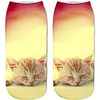 Gluckliy Women Girls Low Ankle Athletic Funny Socks Cute Cat Novelty Happy Socks Fitness Sport Stocking