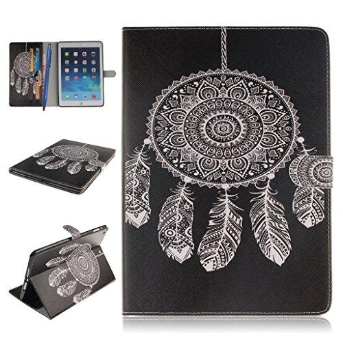 iPad Mini 1/2/3 Funda,Careynoce Atrapasueños León Tigre Pattern Flip PU Cuero Carcasas Funda Case Cover para Apple iPad Mini 1 iPad Mini 2 iPad Mini 3 (7.9 pulgada) - Negro Atrapasueños
