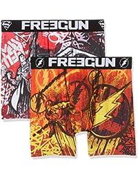 Freegun Justice Leagueboxer Packx2, Boxer Homme