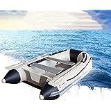 BOOA Barca di Gomma di Usura del peschereccio del Fondo Duro Spesso, compreso pagaia e Pompa, con capacità di carico 225kg, Dimensioni gonfiabili della Barca 230 * 135cm