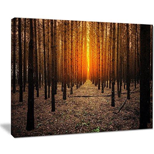 Design Art Halloween Spooky dunklen Wald Übergroße Forest Kunstdruck auf Leinwand, 50,8x 30,5cm