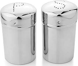 Mosaic Stainless Steel Salt and Pepper Shaker (Regular, Silver, 1SNP-05-REG-V)
